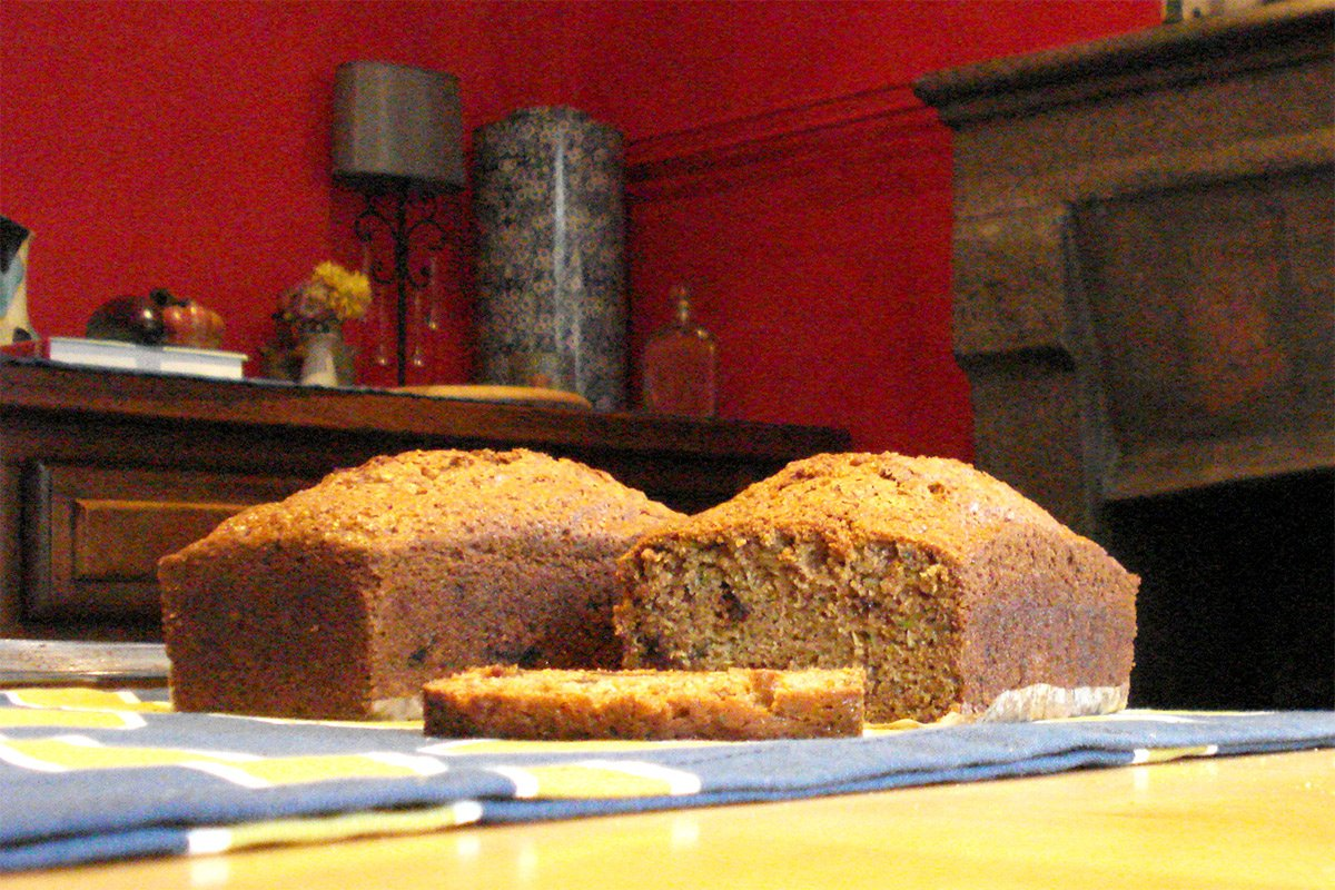 Zucchini Bread with Dates & Walnuts